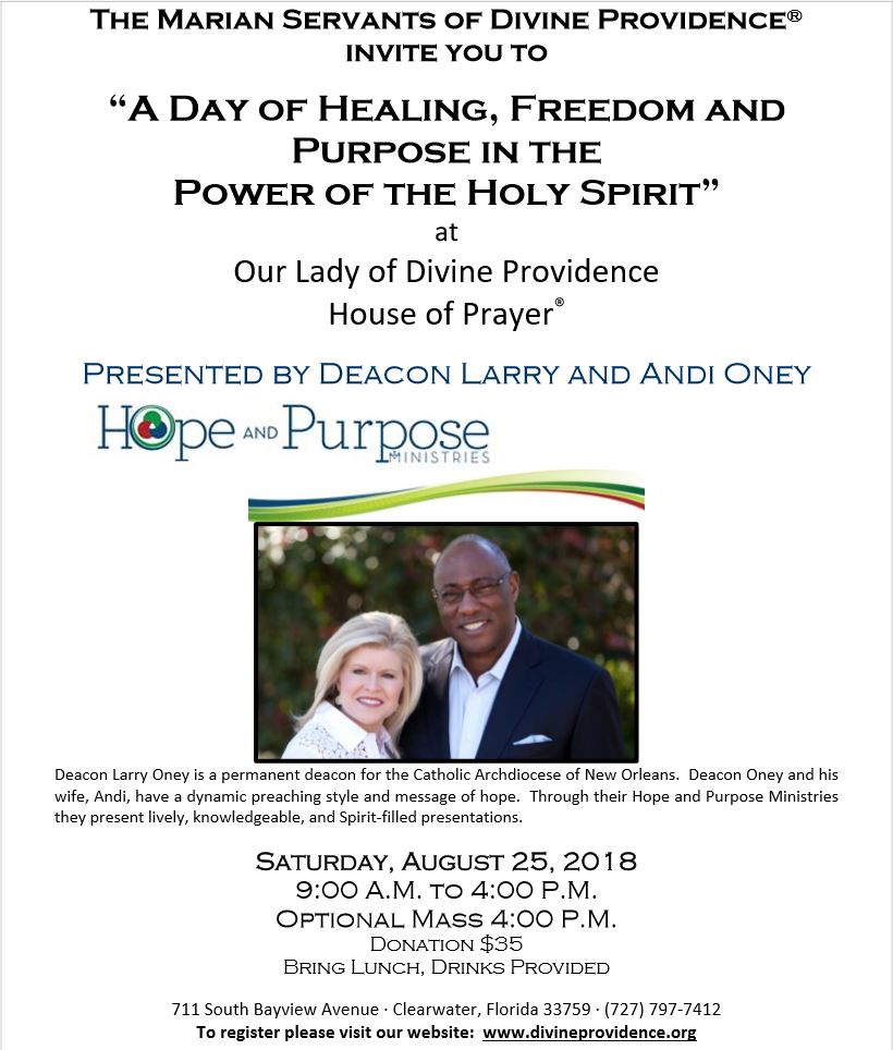 """""""A Day of Healing, Freedom, and Purpose in the Power of the Holy Spirit"""""""