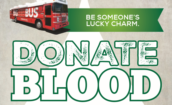 Donate Blood on April 28 at St. Catherine of Siena!